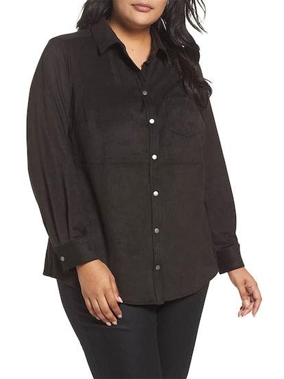 Jena Faux Suede Shirt