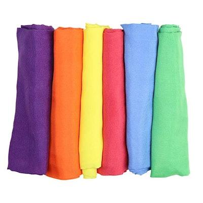 Vibrant Rainbow Play Silks
