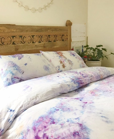 Anna Joyce Amethyst Hand Dyed Bedding, Queen
