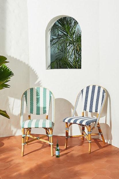 Woven Stripes Bistro Chair