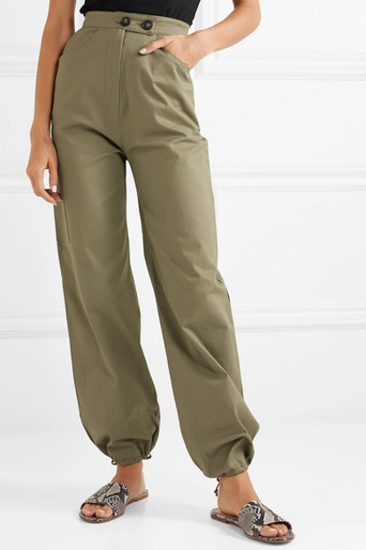 Cotton-Blend Twill Cargo Pants