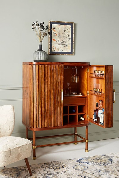Deluxe Tamboured Bar Cabinet