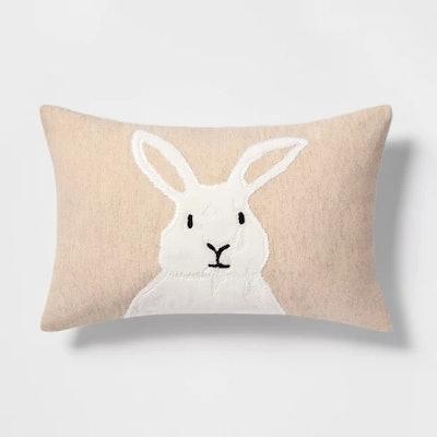 Bunny Lumbar Throw Pillow