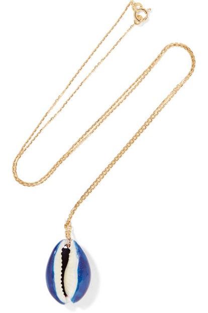 Aurélie Bidermann Merco gold shell necklace