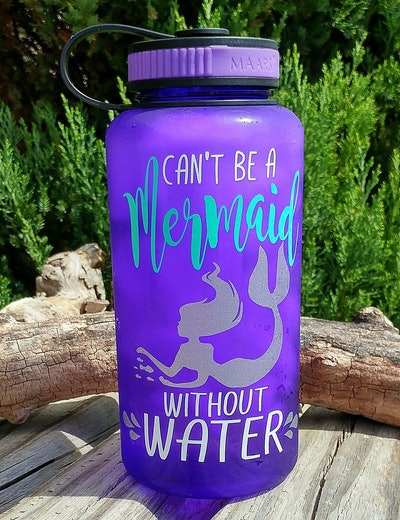 Motivational Mermaid Water Bottle
