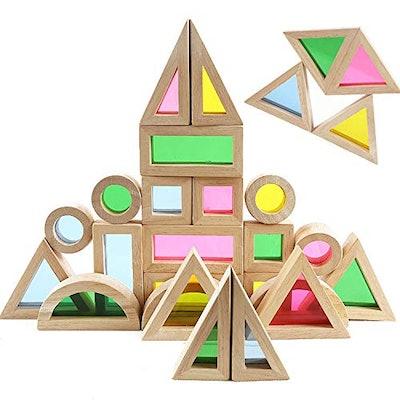 Wood Building Blocks Set For Kids