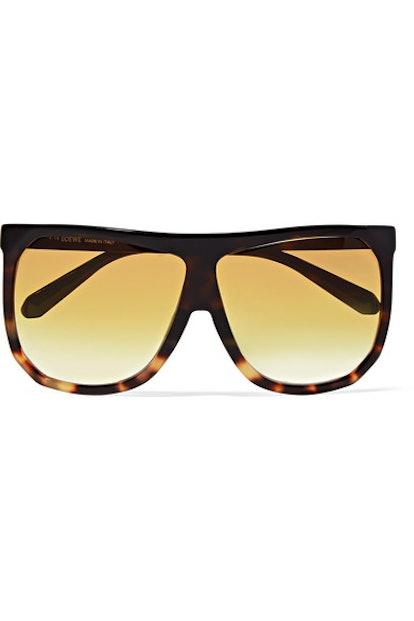 Loewe Filipa oversized D-frame tortoiseshell acetate sunglasses