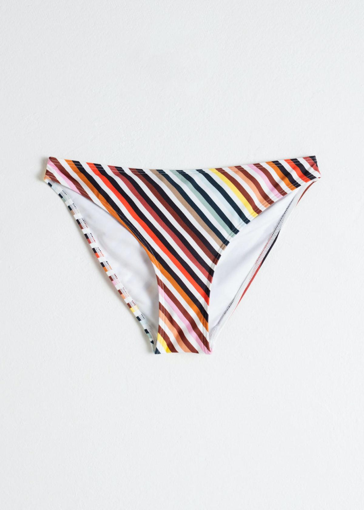 Rainbow Stripe Bikini Briefs