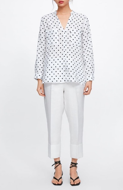 Polka Dot Linen Shirt