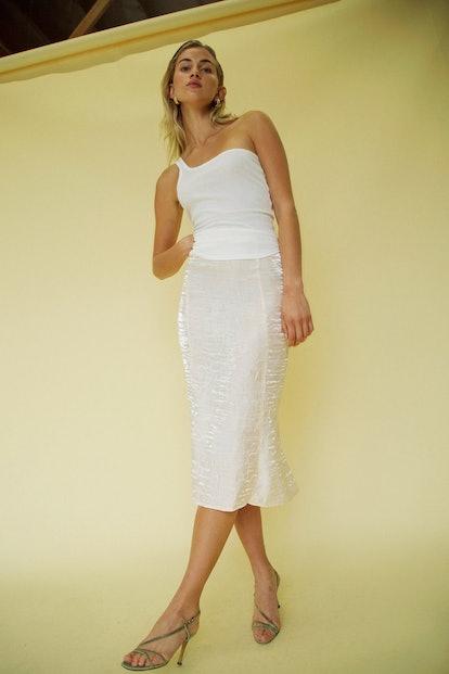 Grace Slip Skirt Ivory