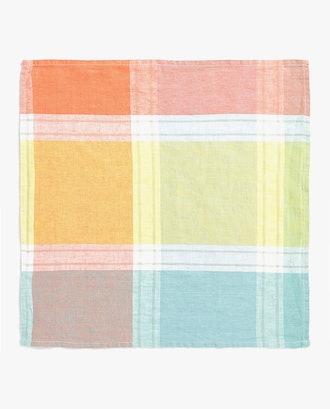 Checked Linen Napkin (Pack of 4)