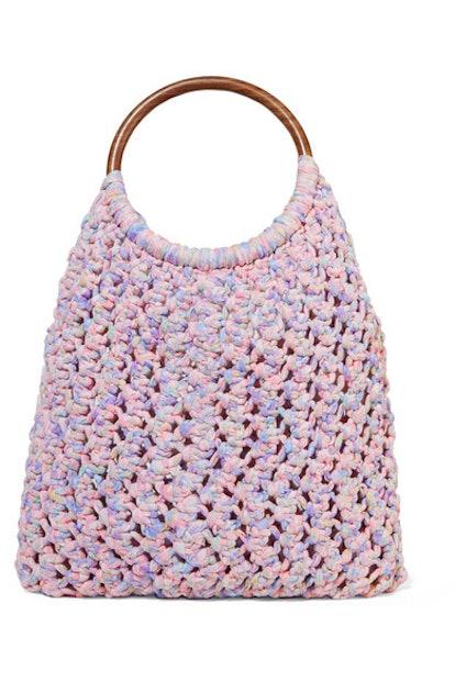 Loveshackfancy Jojo crocheted cotton tote
