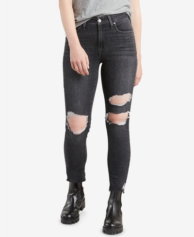 Levi's 721 High-Rise Ripped Jeans