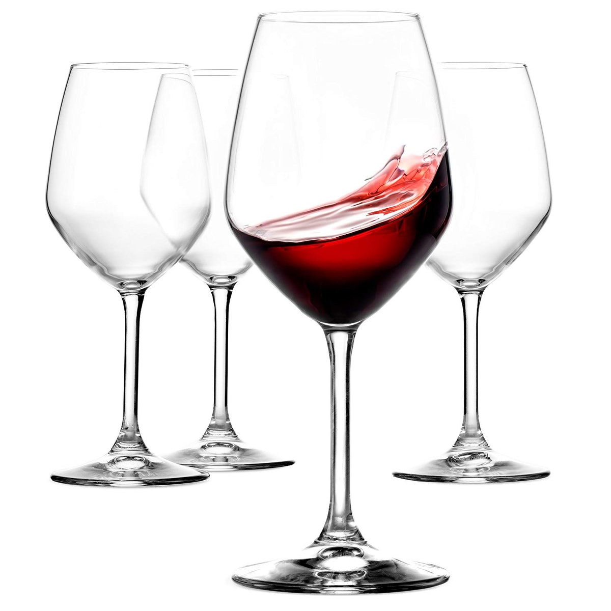 Paksh Novelty Red Wine Glasses (Set of 4)