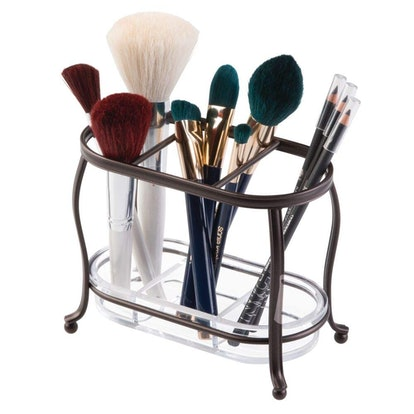 mDesign Makeup Brush Storage Organizer