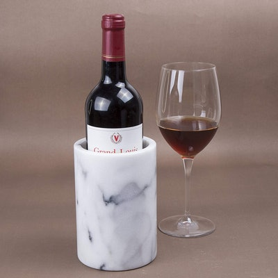 Creative Home White Marble Wine Cooler