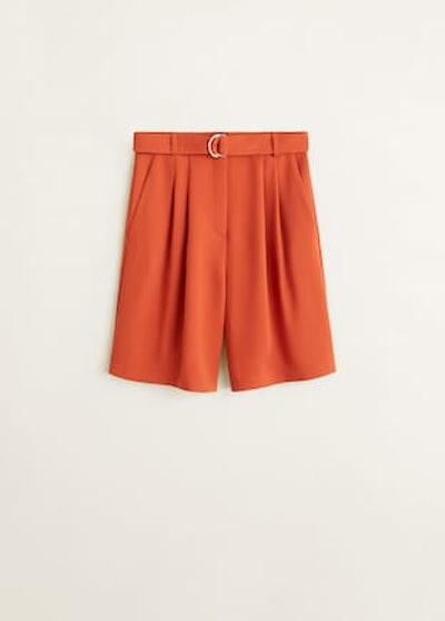 Belt Bermuda Shorts