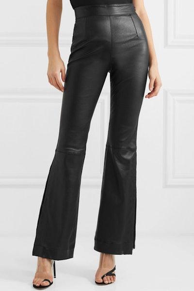Almada Leather Bootcut Pants