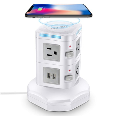GLCON Power Strip Tower Wireless Charger
