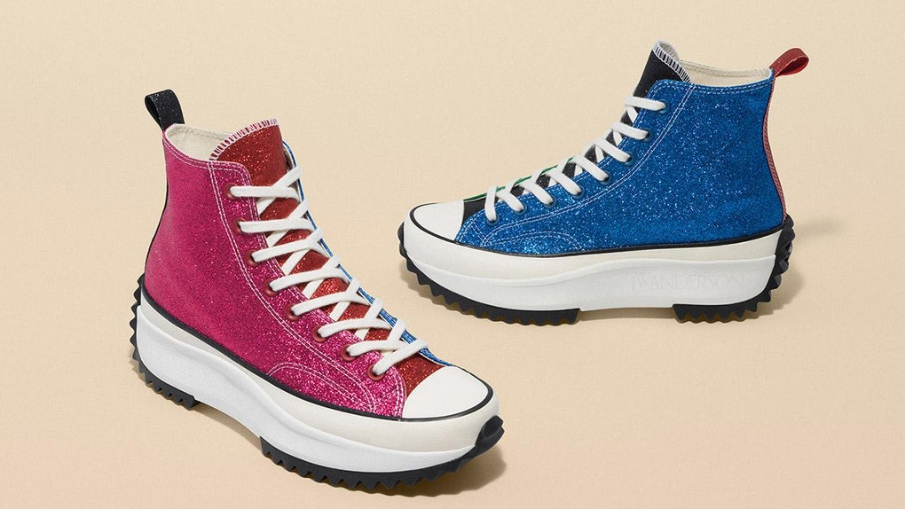7181b49e8c51 This Glittery JW Anderson x Converse Collaboration Brings A Whole New  Meaning To Happy Feet