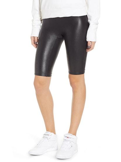 Faux Leather Bike Shorts