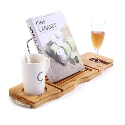Utoplike Extendable Bamboo Bathtub Caddy Tray