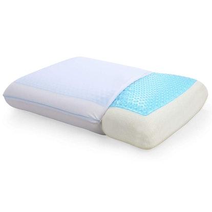Classic Brands Reversible Cool Gel and Memory Foam Pillow