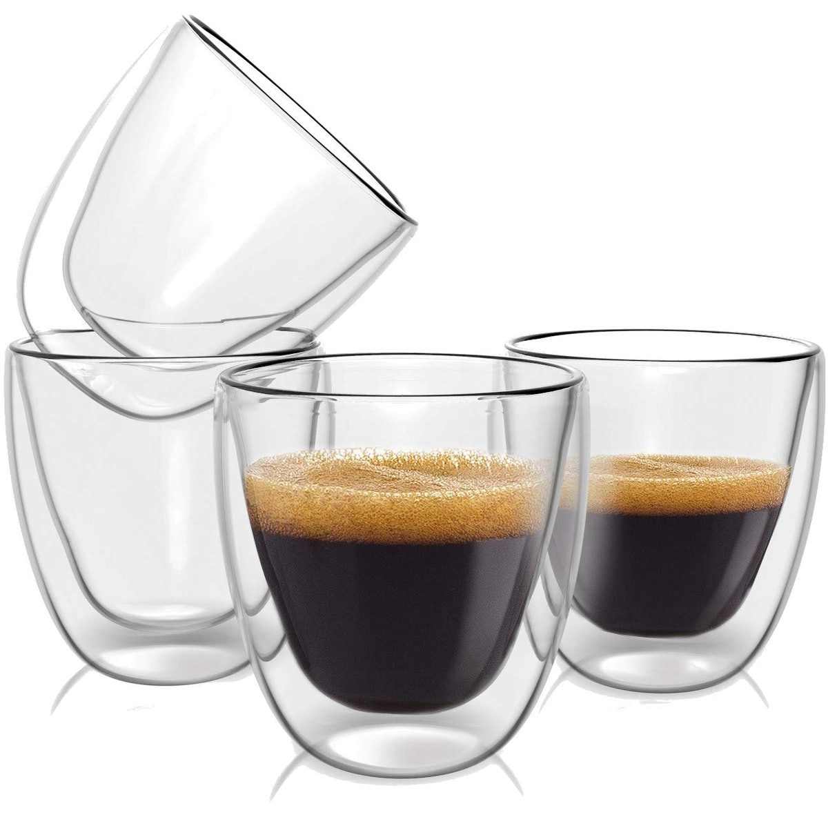 Evaryl Double Wall Espresso Cups Set (Set of 4)