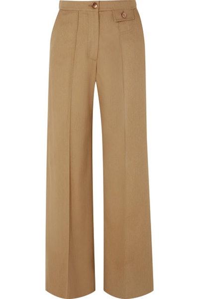 City Twill Wide-Leg Pants