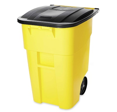 Rubbermaid Commercial Products Heavy-Duty Wheeled Trash Can, 50-Gallon