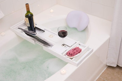 Adorn Home Essentials Bath Caddy And Pillow