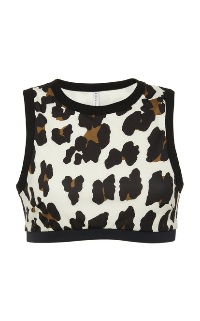 Stacey Leopard-Print Swim Top