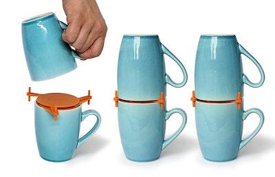 Coffee Mug Organizers and Storage (6 Pieces)