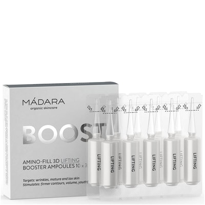 MÁDARA Boost Amino-Fill 3D Lifting Booster Ampoules (3ml x 10)