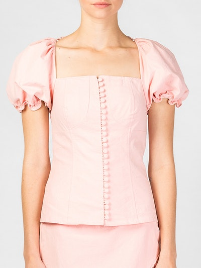 Alsace Sleeved Button Front Top