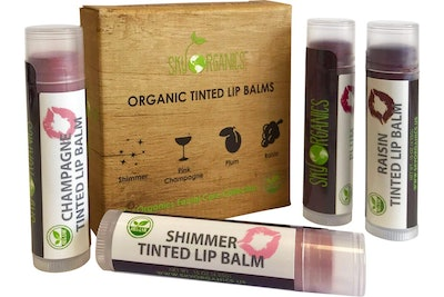 Sky Organics Tinted Lip Balm (Set of 4)