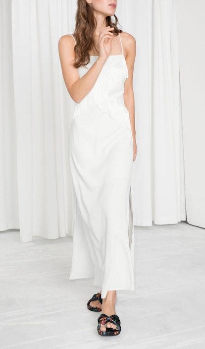 Asymmetric Fringe Dress