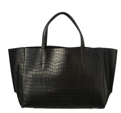 Sideways Leather Tote