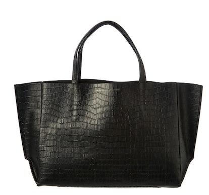 Sideways Leather Tote