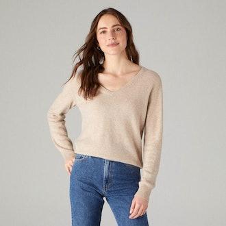 The Softest Cashmere V-Neck Sweater