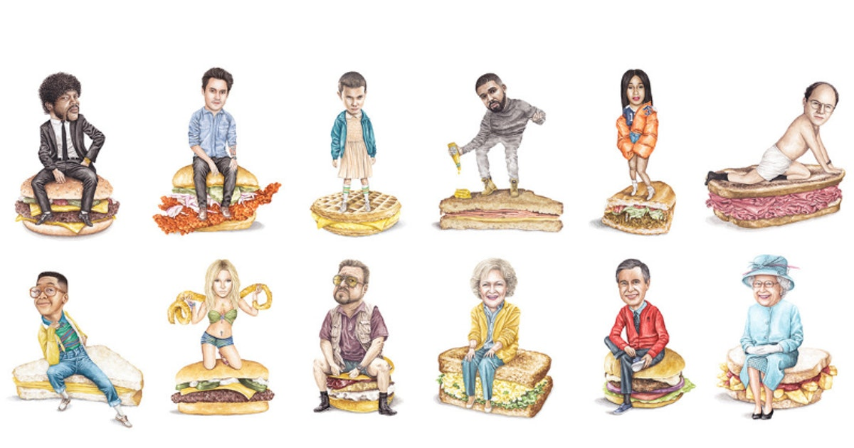 Celebs On Sandwiches' Jeff McCarthy Paints The Hilarious Foodie-Celebrity Mashups On Your Feed