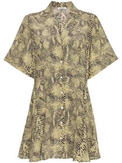 Coco Silk Button-Down Mini Dress