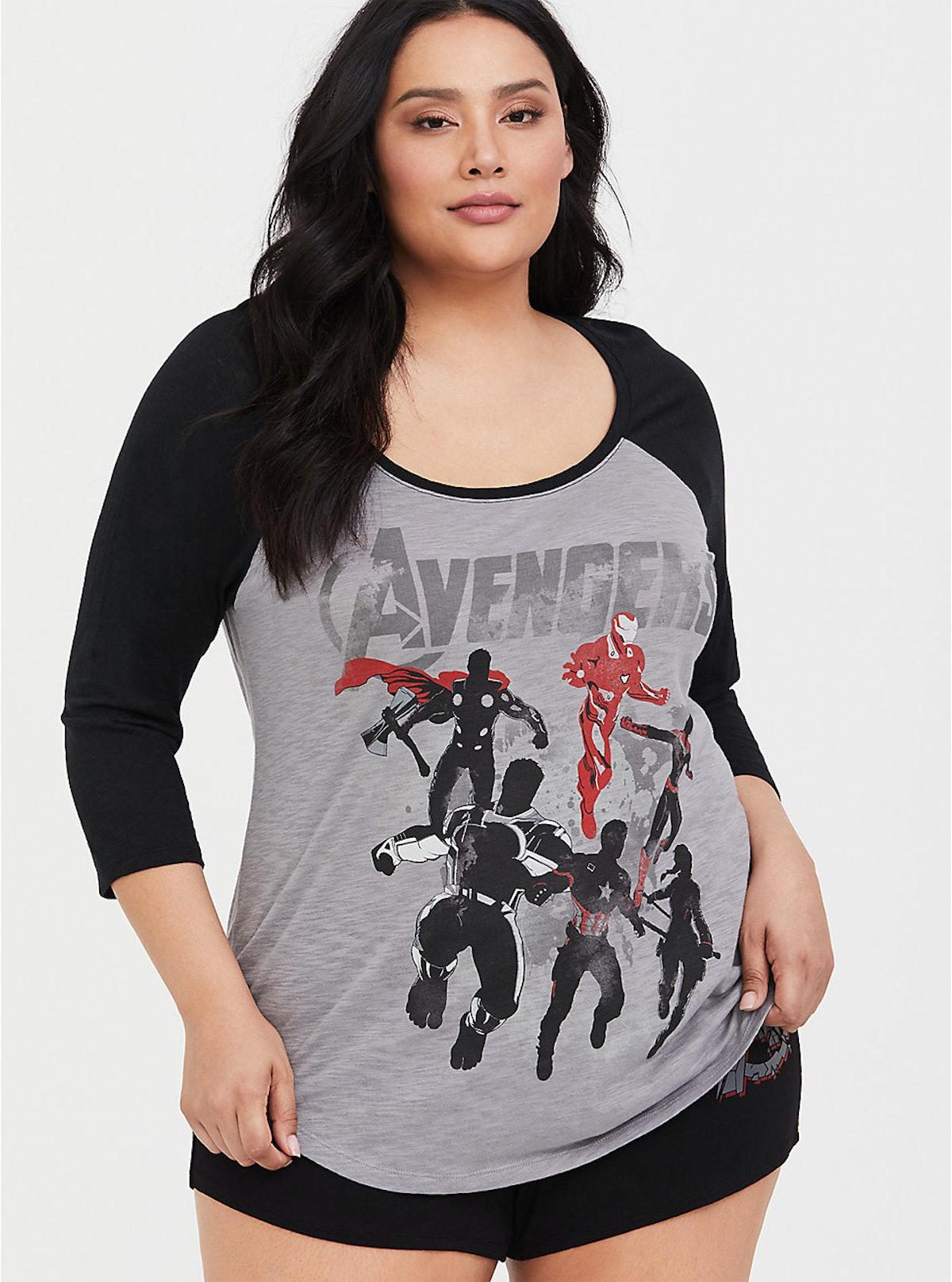 Her Universe Marvel Avengers Sleep Top