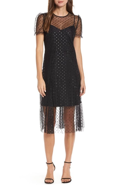 Sheer Polka Dot Party Dress