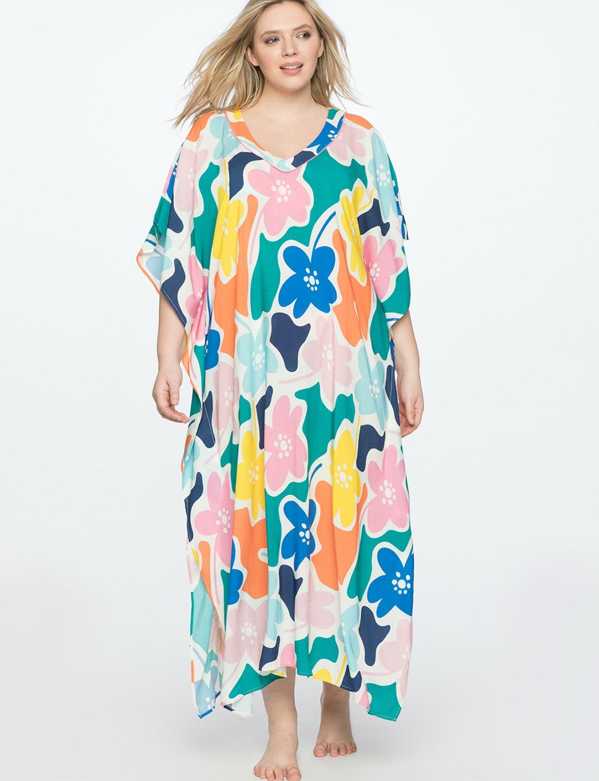 Kimono Maxi Dress Coverup