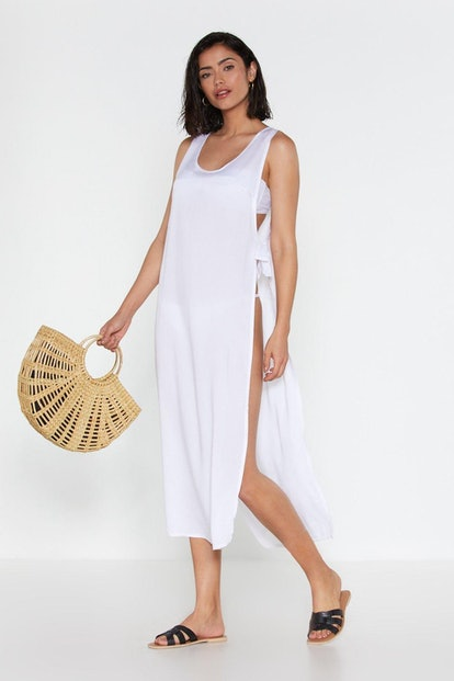 Tied to No Avail Oversized Cover Up