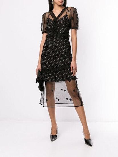 Layered Star-Print Dress