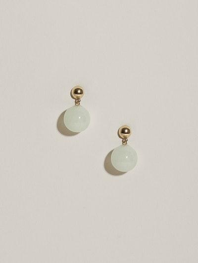 Glacé Drop Earrings  (Aquamarine)