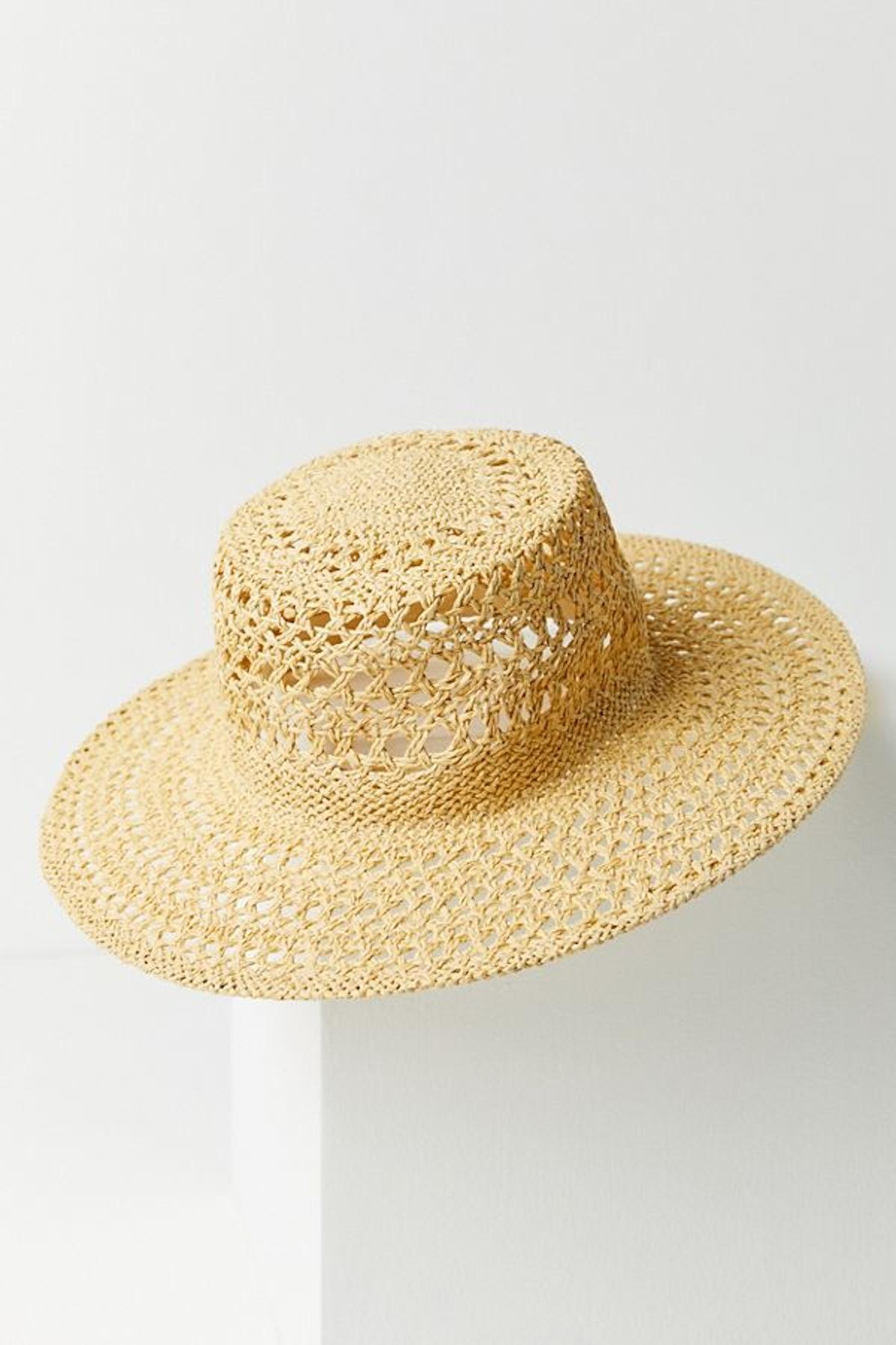 UO Open Weave Straw Panama Hat