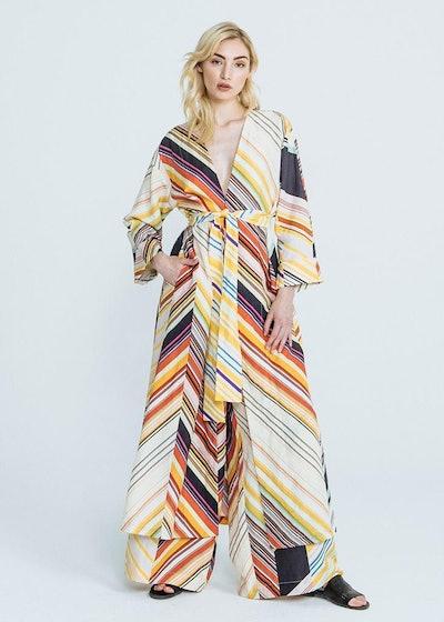 Mid-century Stripe Silk Linen Kim